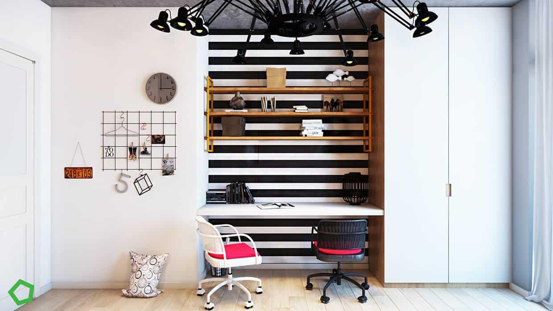thiet-ke-noi-that-chung-cu-lang-ha-12 Thiết kế nội thất chung cư 75 m2 Láng Hạ - A. Minh