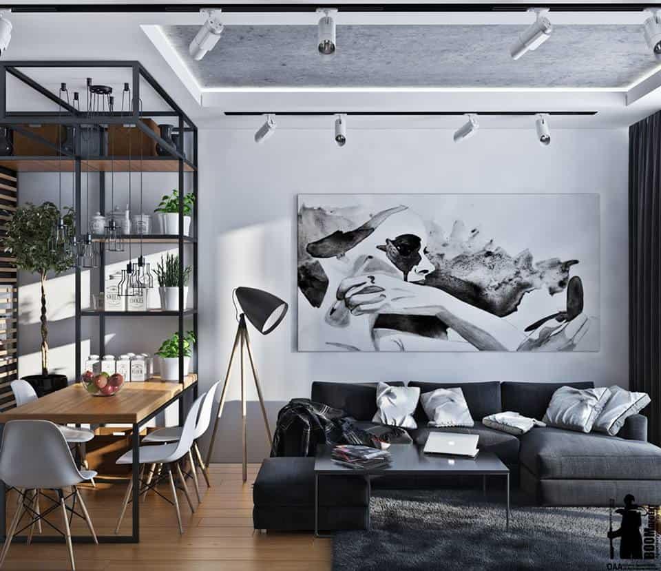 thiet-ke-noi-that-chung-cu-lieu-giai-2 Thiết kế nội thất phòng khách bếp chung cư Liễu Giai - C. Thanh