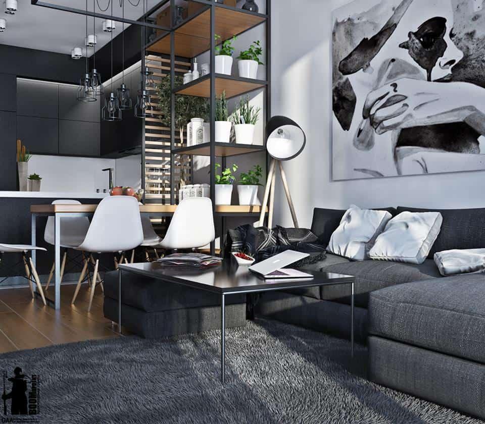 thiet-ke-noi-that-chung-cu-lieu-giai-3 Thiết kế nội thất phòng khách bếp chung cư Liễu Giai - C. Thanh