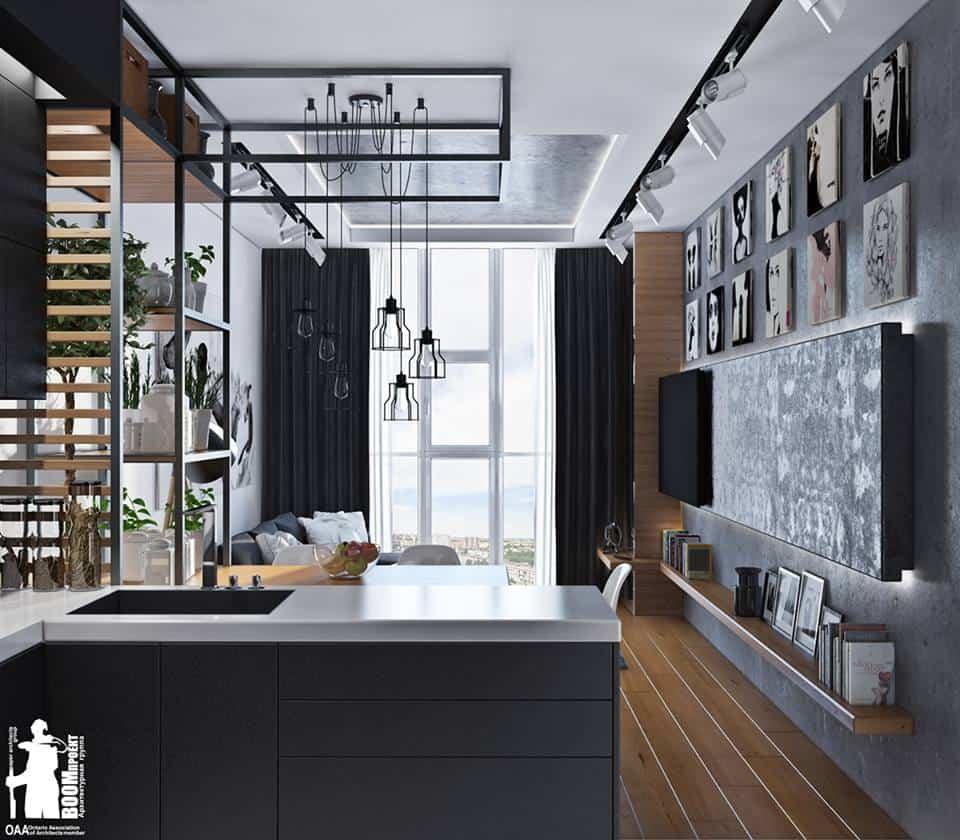 thiet-ke-noi-that-chung-cu-lieu-giai-4 Thiết kế nội thất phòng khách bếp chung cư Liễu Giai - C. Thanh