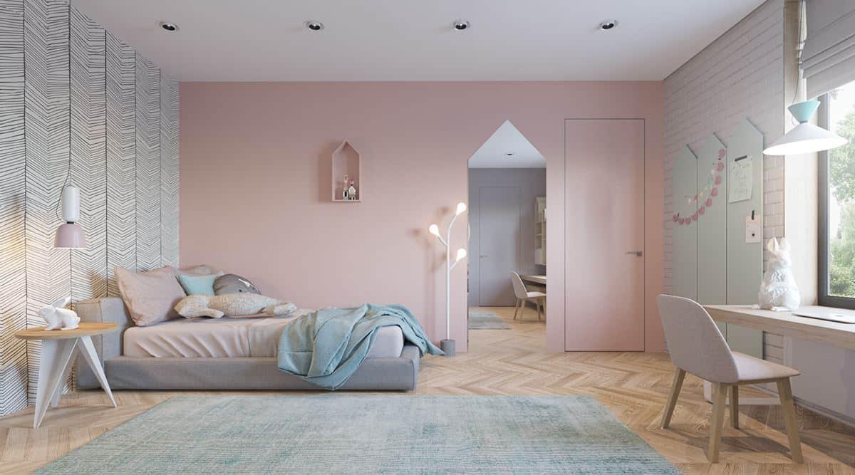 thiet-ke-phong-ngu-tre-em-chung-cu-dai-mo-1 Thiết kế nội thất phòng ngủ trẻ em chung cư Đại Mỗ - C. Hà