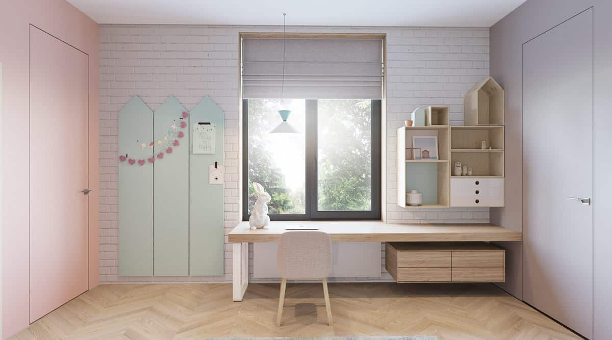 thiet-ke-phong-ngu-tre-em-chung-cu-dai-mo-2 Thiết kế nội thất phòng ngủ trẻ em chung cư Đại Mỗ - C. Hà