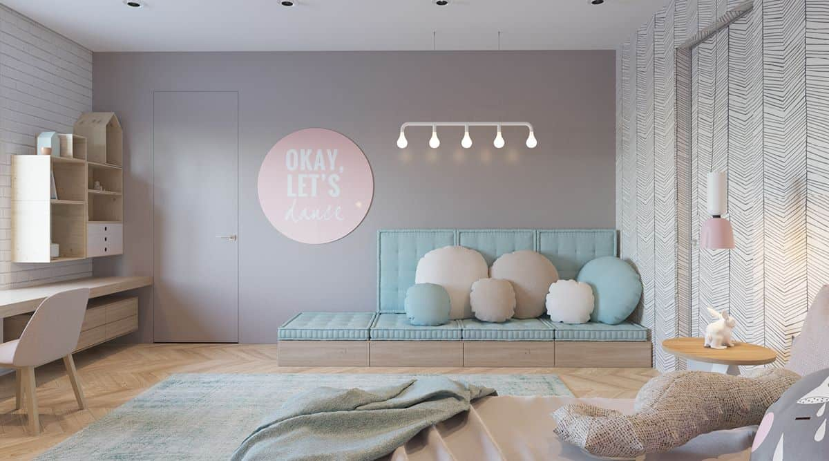 thiet-ke-phong-ngu-tre-em-chung-cu-dai-mo-3 Thiết kế nội thất phòng ngủ trẻ em chung cư Đại Mỗ - C. Hà