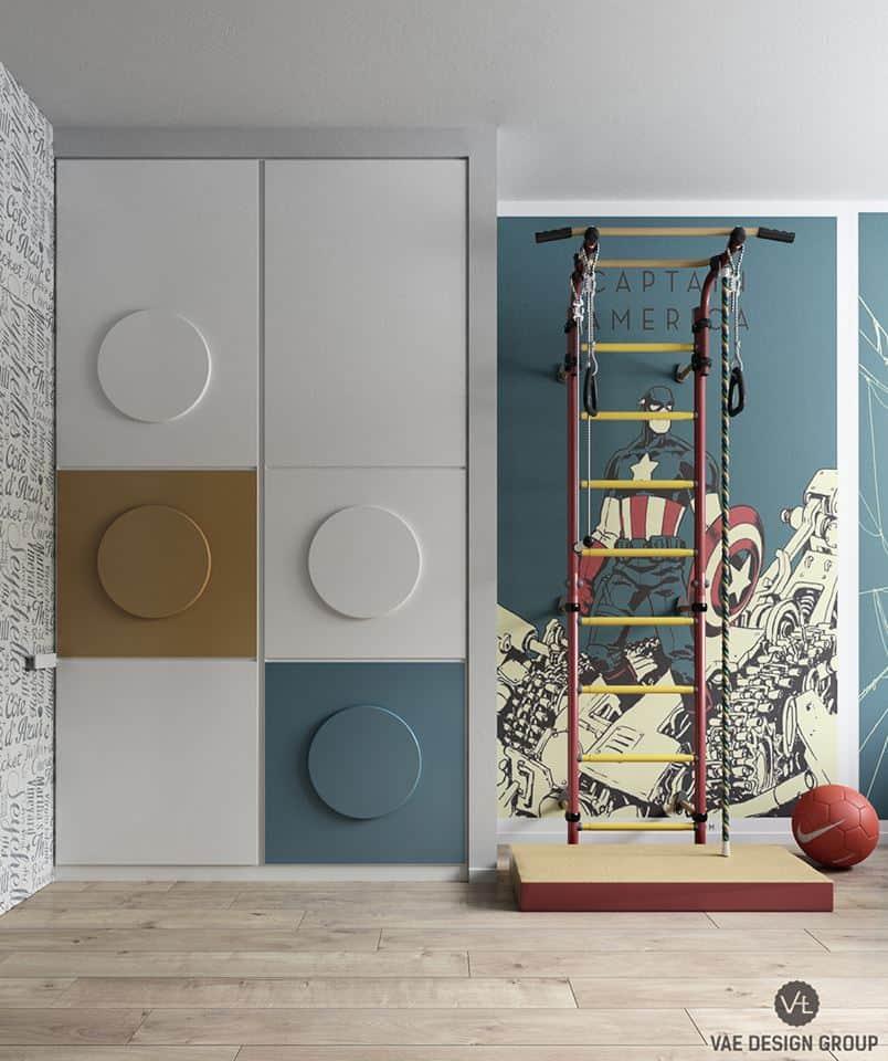 thiet-ke-phong-ngu-tre-em-chung-cu-duc-giang-5 Thiết kế nội thất phòng ngủ bé trai chung cư Đức Giang - A. Tuấn