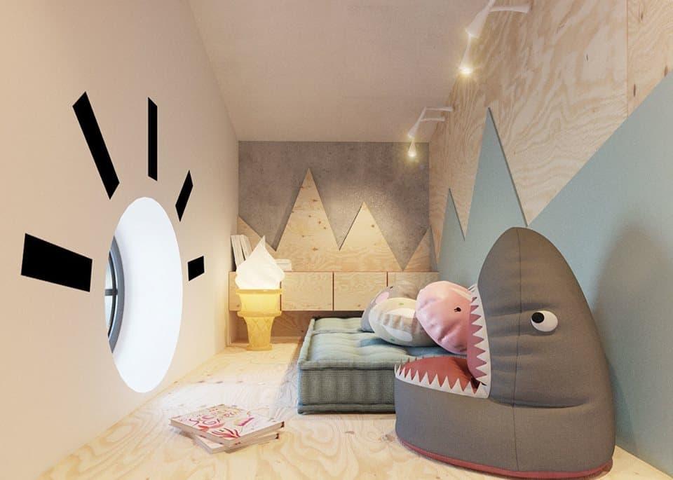 thiet-ke-phong-ngu-tre-em-chung-cu-trung-van-1 Thiết kế nội thất phòng ngủ trẻ em chung cư Trung Văn - A. Điển