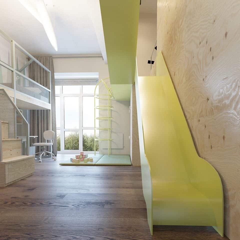 thiet-ke-phong-ngu-tre-em-chung-cu-trung-van-4 Thiết kế nội thất phòng ngủ trẻ em chung cư Trung Văn - A. Điển