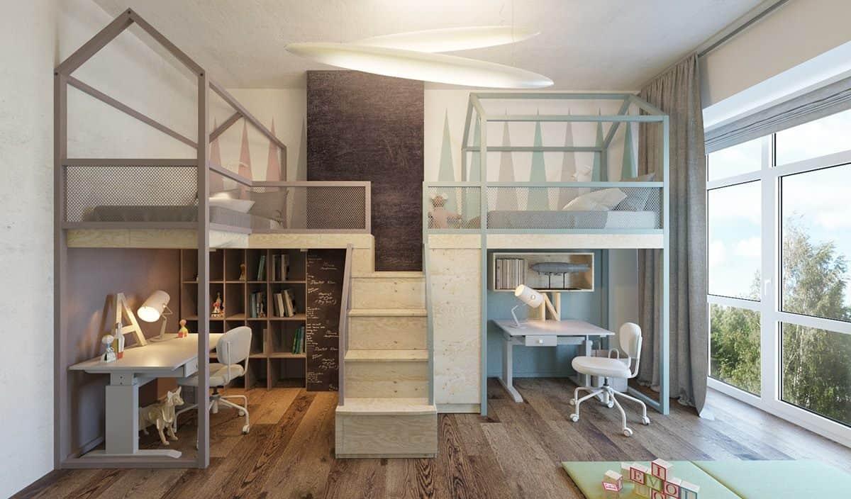 thiet-ke-phong-ngu-tre-em-chung-cu-trung-van-5 Thiết kế nội thất phòng ngủ trẻ em chung cư Trung Văn - A. Điển