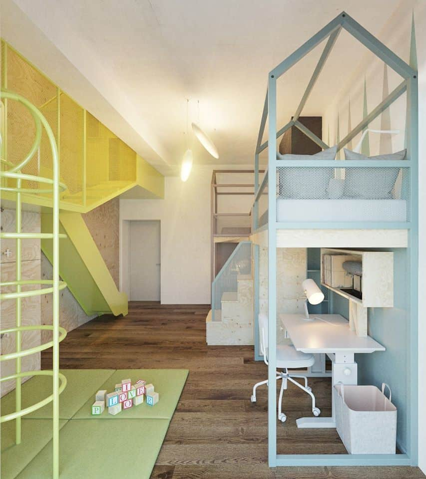 thiet-ke-phong-ngu-tre-em-chung-cu-trung-van-6 Thiết kế nội thất phòng ngủ trẻ em chung cư Trung Văn - A. Điển