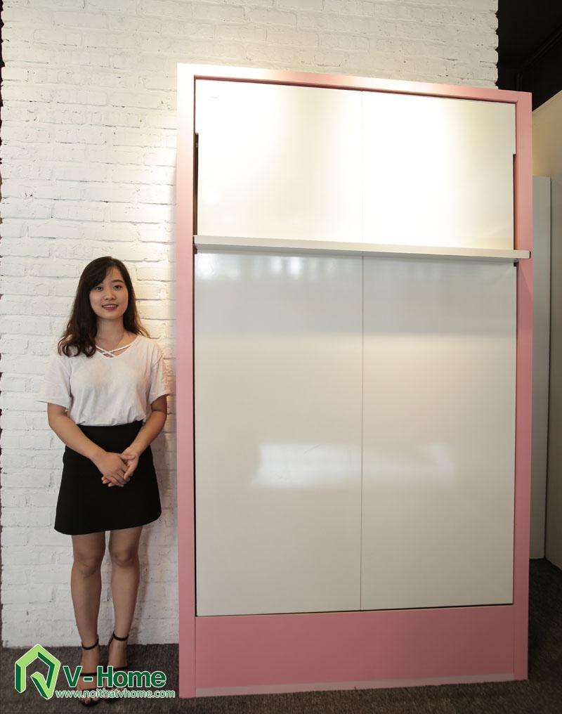 giuong-1.2-doc-1 Giường thông minh V-Home – 1,2m x 1,9m - Mở dọc- GD1219
