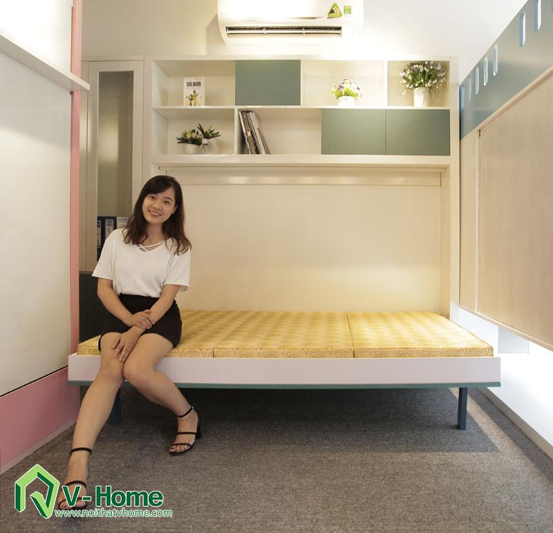 giuong-1.2-ngang-4 Giường thông minh + tủ sách V-Home - GT1N1219a