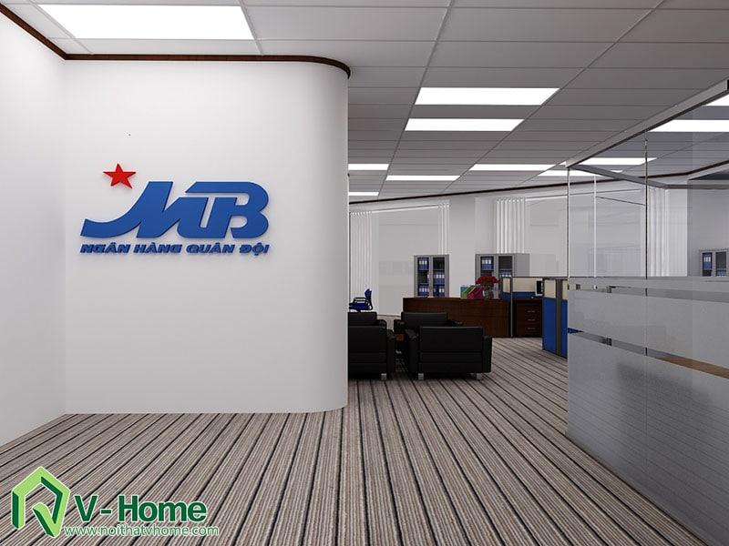 Van-phong-MB-bank-1 Thiết kế văn phòng Ngân hàng Quân Đội - MB Bank
