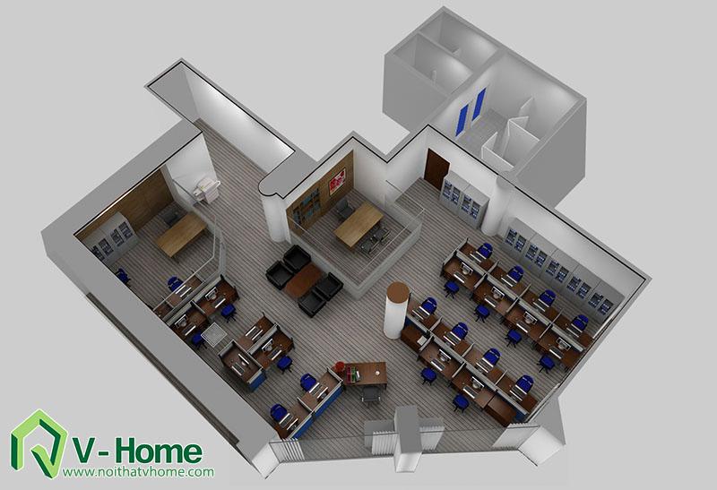 Van-phong-MB-bank Thiết kế văn phòng Ngân hàng Quân Đội - MB Bank