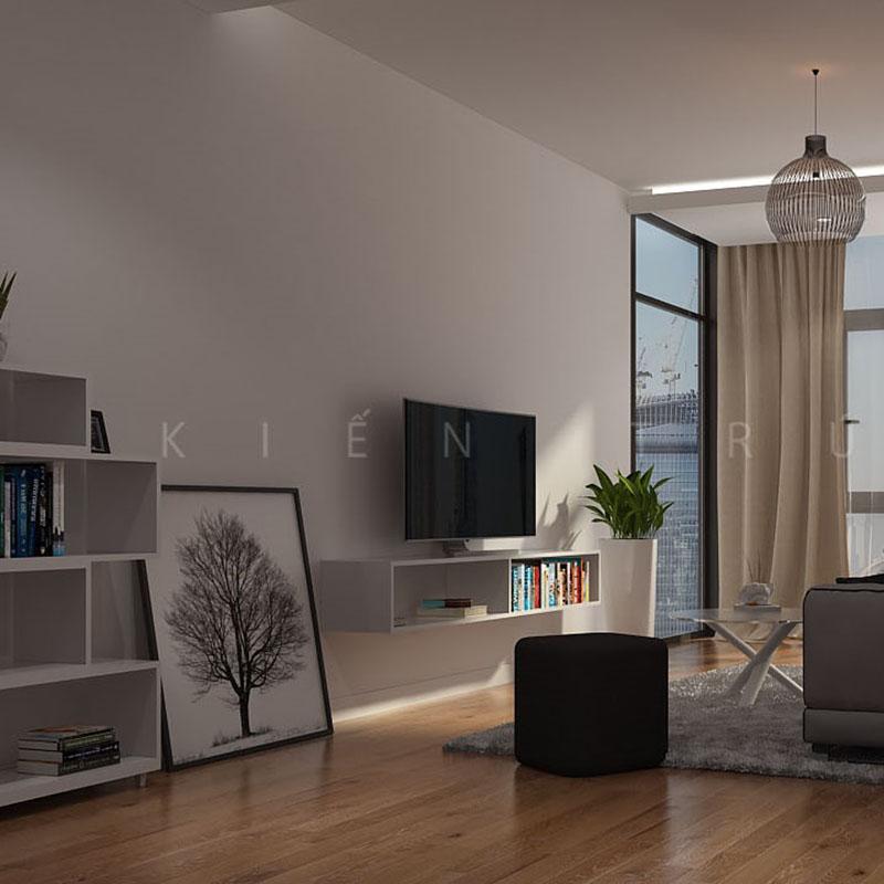 thiet-ke-noi-that-nha-219-thuy-khue-1 Thiết kế nội thất phòng khách nhà lô phố Thụy Khuê