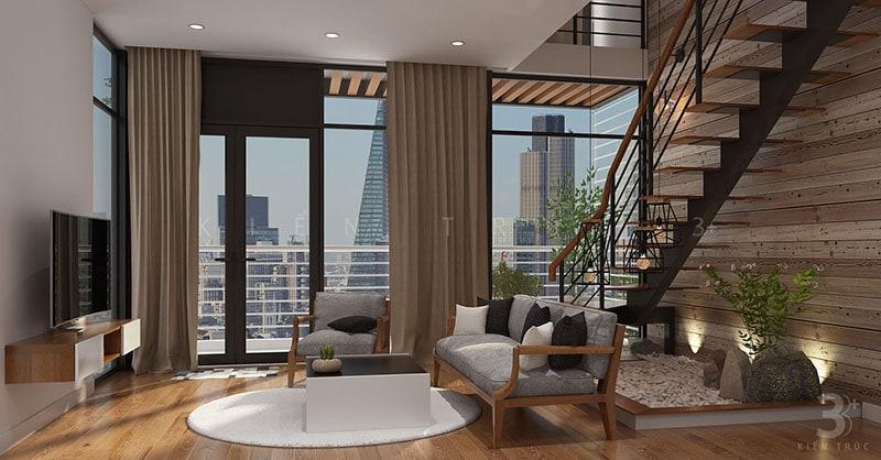 thiet-ke-noi-that-nha-219-thuy-khue-4 Thiết kế nội thất phòng khách nhà lô phố Thụy Khuê
