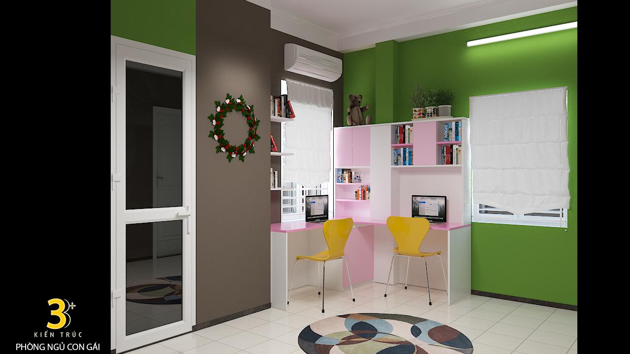 thiet-ke-noi-that-nha-chi-huong-4 Thiết kế nội thất phòng ngủ chung cư Goldmark City 136 Hồ Tùng Mậu - C Hường