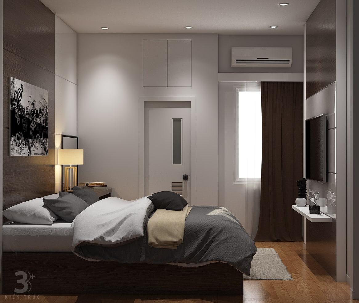 thiet-ke-noi-that-nha-chi-huong-7 Thiết kế nội thất phòng ngủ chung cư Goldmark City 136 Hồ Tùng Mậu - C Hường