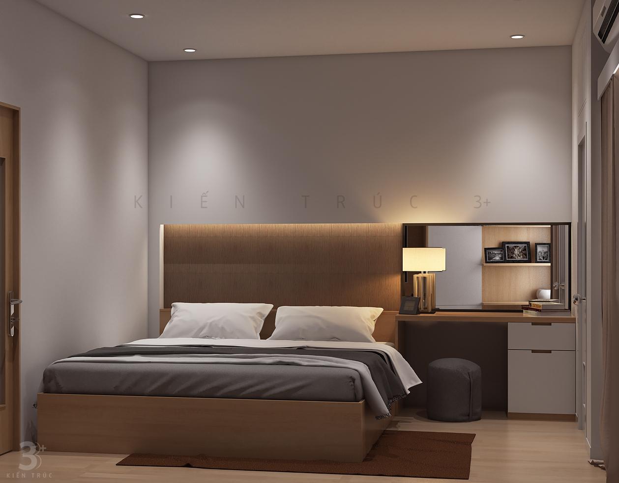 thiet-ke-noi-that-nha-chi-huong-8 Thiết kế nội thất phòng ngủ chung cư Goldmark City 136 Hồ Tùng Mậu - C Hường