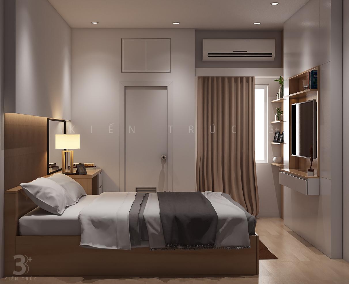 thiet-ke-noi-that-nha-chi-huong-9 Thiết kế nội thất phòng ngủ chung cư Goldmark City 136 Hồ Tùng Mậu - C Hường