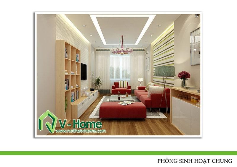 thiet-ke-noi-that-phong-khach-220-pho-hue-3 Thiết kế nội thất nhà lô phố 220 Phố Huế