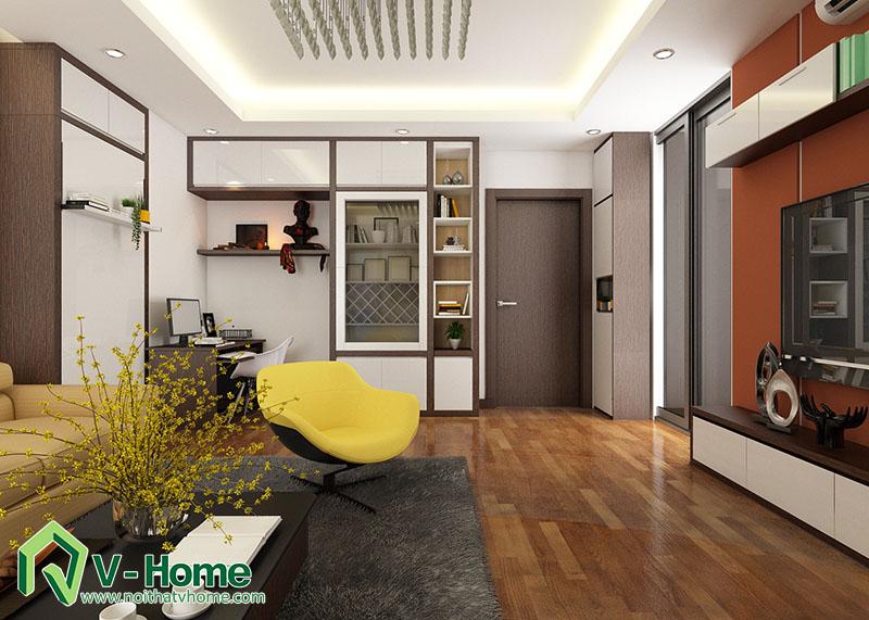 thiet-ke-noi-that-phong-khach-flc-pham-hung-1 Thiết kế nội thất phòng khách chung cư FLC Complex - 36 Phạm Hùng