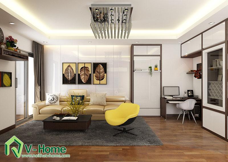 thiet-ke-noi-that-phong-khach-flc-pham-hung-3 Thiết kế nội thất phòng khách chung cư FLC Complex - 36 Phạm Hùng