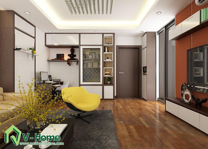 thiet-ke-noi-that-phong-khach-flc-pham-hung-4 Thiết kế nội thất phòng khách chung cư FLC Complex - 36 Phạm Hùng