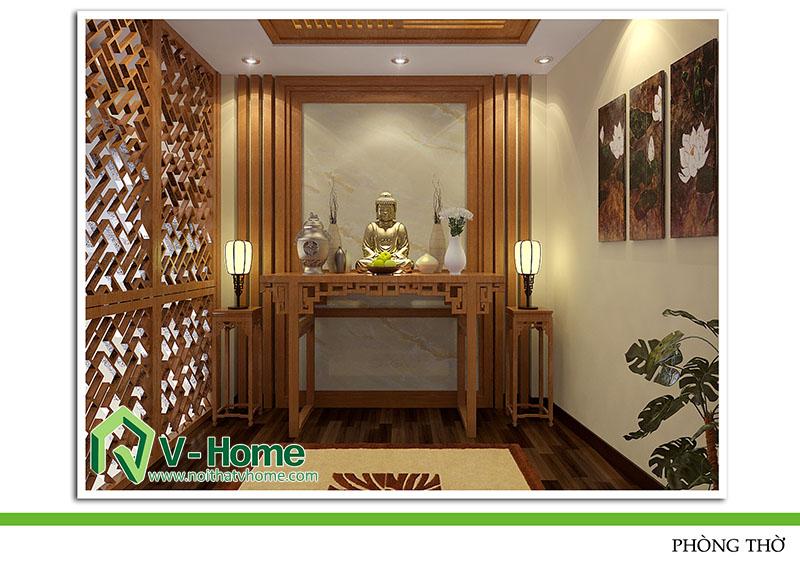 thiet-ke-noi-that-phong-tho-220-pho-hue-4 Thiết kế nội thất nhà lô phố 220 Phố Huế