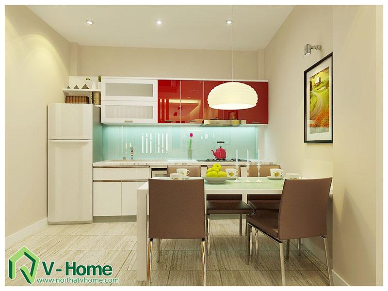 thiet-ke-phong-bep-220-pho-hue-6 Thiết kế nội thất nhà lô phố 220 Phố Huế
