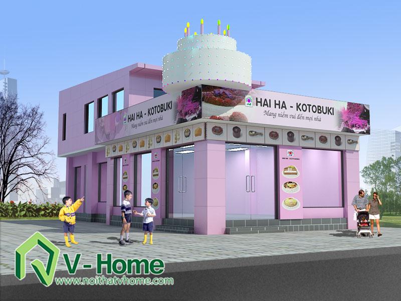 haiha-morning Thiết kế ngoại thất cửa hàng bánh Hải Hà