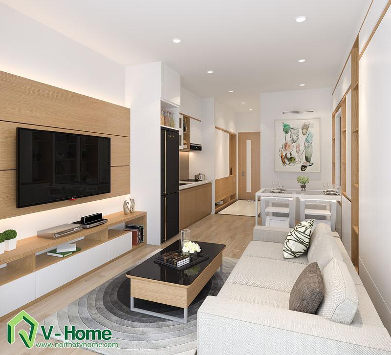 noi-that-thong-minh-officetel-4 Thiết kế nội thất căn hộ Officetel diện tích 32m2 - TP. Bắc Ninh