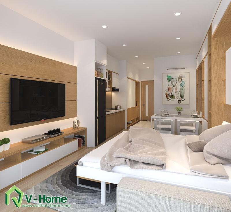 noi-that-thong-minh-officetel-5 Thiết kế nội thất căn hộ Officetel diện tích 32m2 - TP. Bắc Ninh
