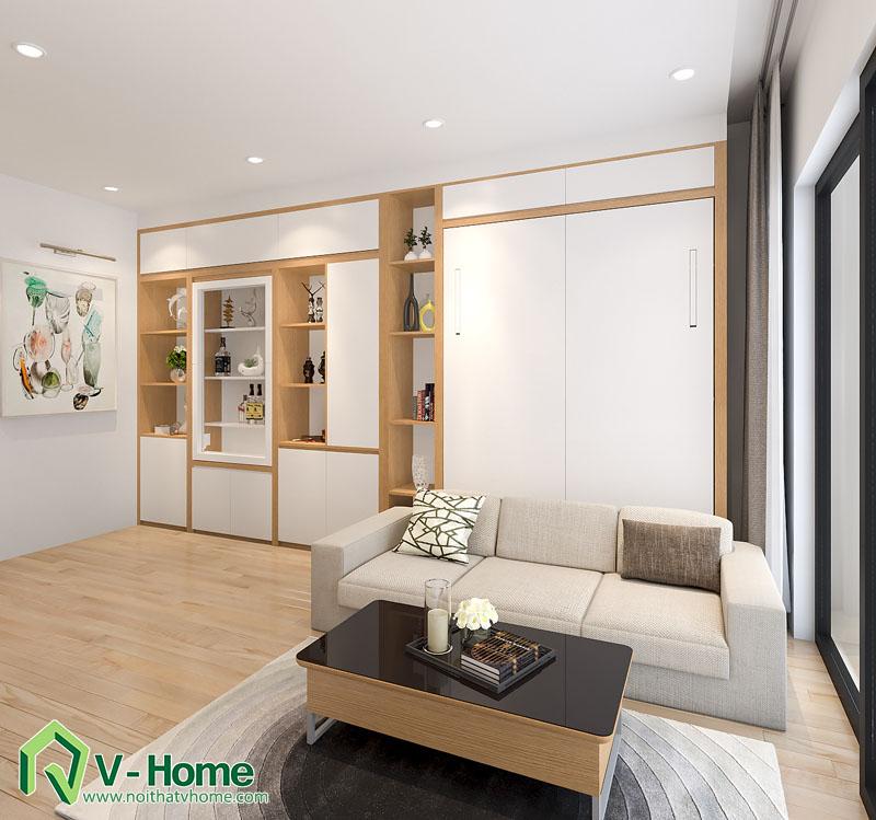 noi-that-thong-minh-officetel-7 Thiết kế nội thất căn hộ Officetel diện tích 32m2 - TP. Bắc Ninh