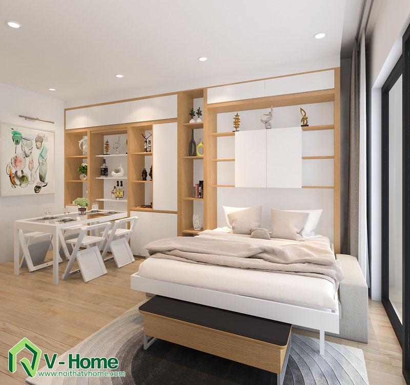 noi-that-thong-minh-officetel-8 Thiết kế nội thất căn hộ Officetel diện tích 32m2 - TP. Bắc Ninh