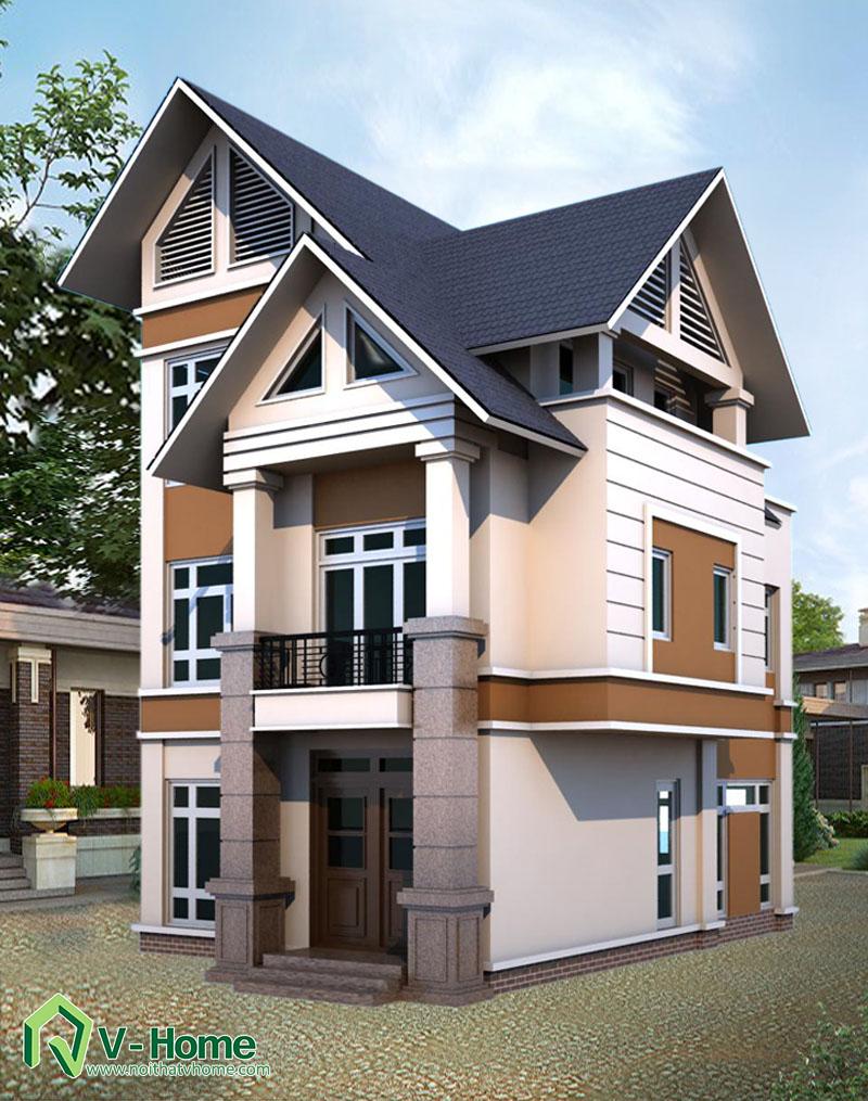 pc1-1 Thiết kế ngoại thất biệt thự - nhà lô phố