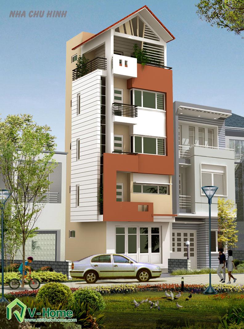 pc1 Thiết kế ngoại thất biệt thự - nhà lô phố