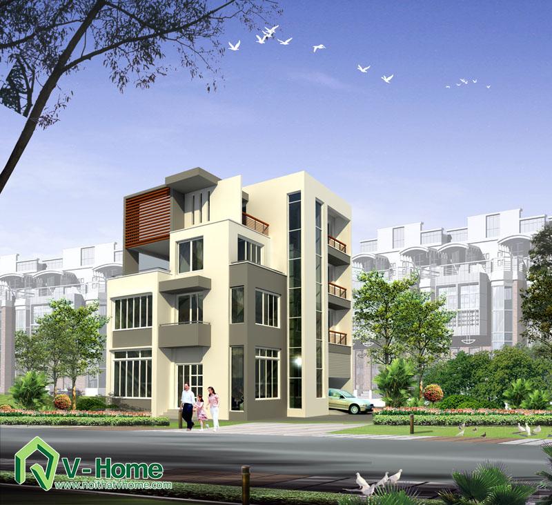 phoi-canh-m5 Thiết kế ngoại thất biệt thự - nhà lô phố
