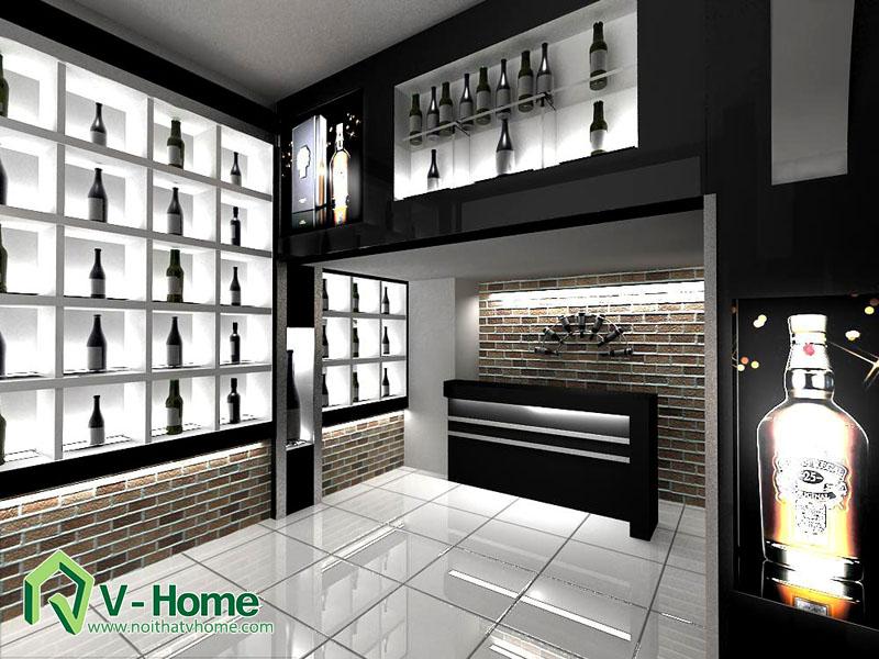 ruou-1 Thiết kế showroom trưng bày rượu