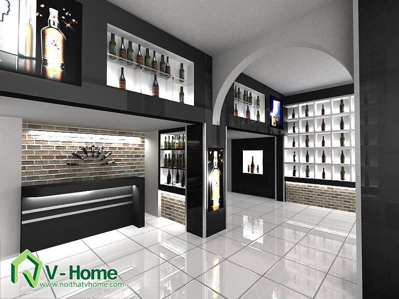 ruou-2 Thiết kế showroom trưng bày rượu