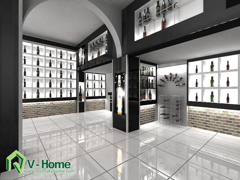 ruou-3 Thiết kế showroom trưng bày rượu