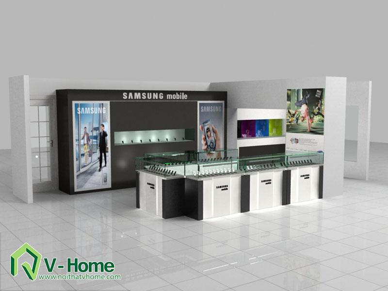 thiet-ke-khu-trung-bay-sam-sumg-1 Thiết kế khu trưng bày sản phẩm điện tử SamSung