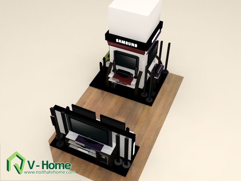 thiet-ke-khu-trung-bay-sam-sumg-10 Thiết kế khu trưng bày sản phẩm điện tử SamSung