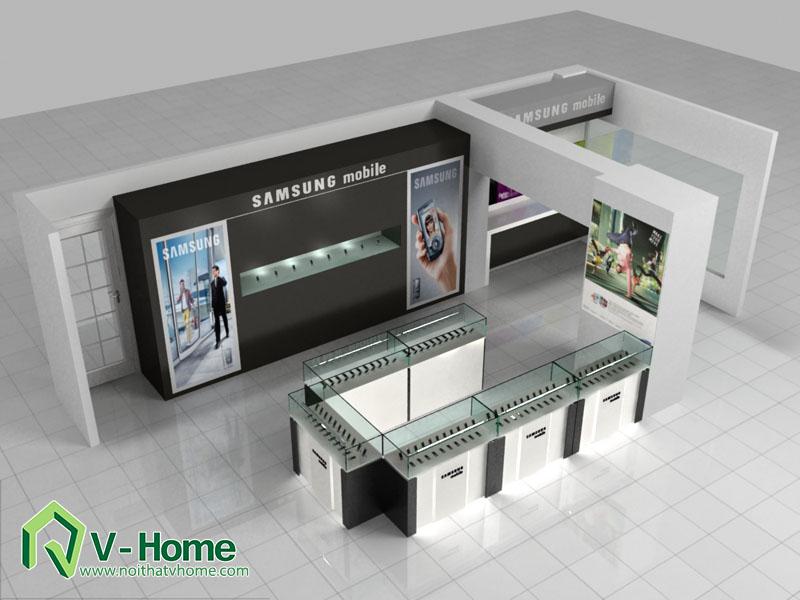 thiet-ke-khu-trung-bay-sam-sumg-2 Thiết kế khu trưng bày sản phẩm điện tử SamSung