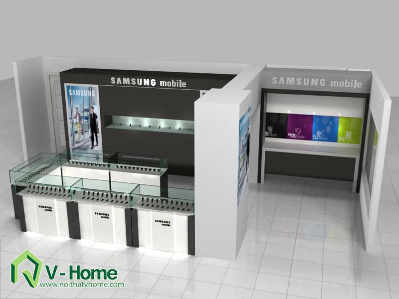 thiet-ke-khu-trung-bay-sam-sumg-3 Thiết kế khu trưng bày sản phẩm điện tử SamSung
