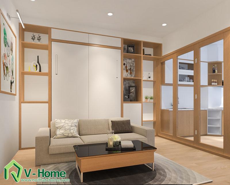 thiet-ke-noi-that-officetel-3 Thiết kế thông minh cho căn hộ nhỏ 30m2