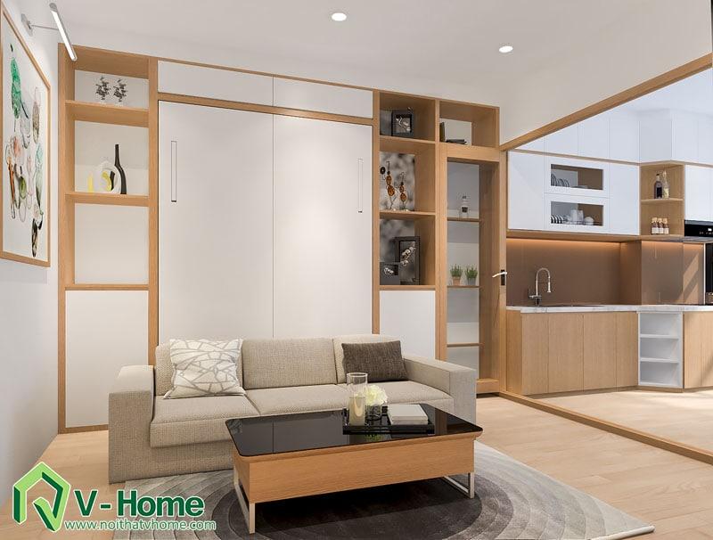 thiet-ke-noi-that-officetel-4 Thiết kế thông minh cho căn hộ nhỏ 30m2