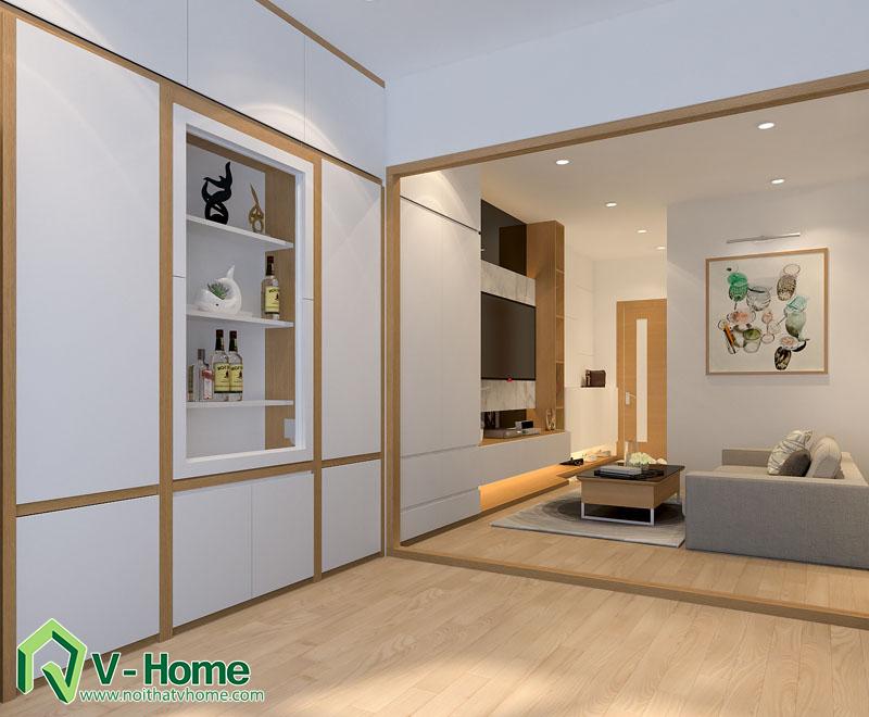 thiet-ke-noi-that-officetel-8 Thiết kế thông minh cho căn hộ nhỏ 30m2