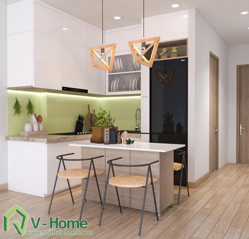 thiet-ke-noi-that-officetel-sunrise-city-q7-7 Thiết kế nội thất chung cư Sunrise City Q.7 - C. Hồng