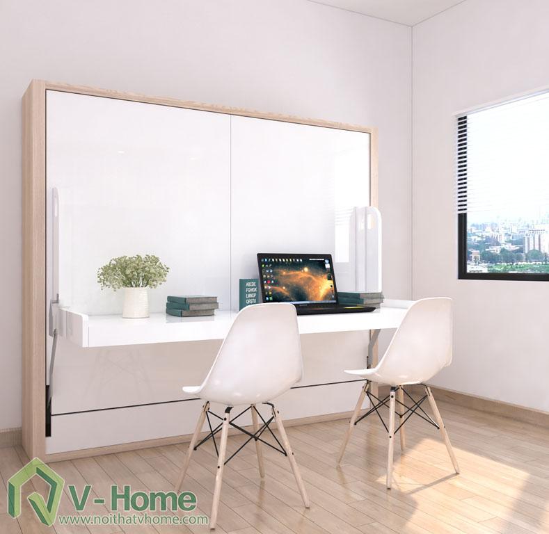 giuong-mo-ngang-ban-lam-viec-1 Giường thông minh V-Home - 1,6mx2m - GB2N1620