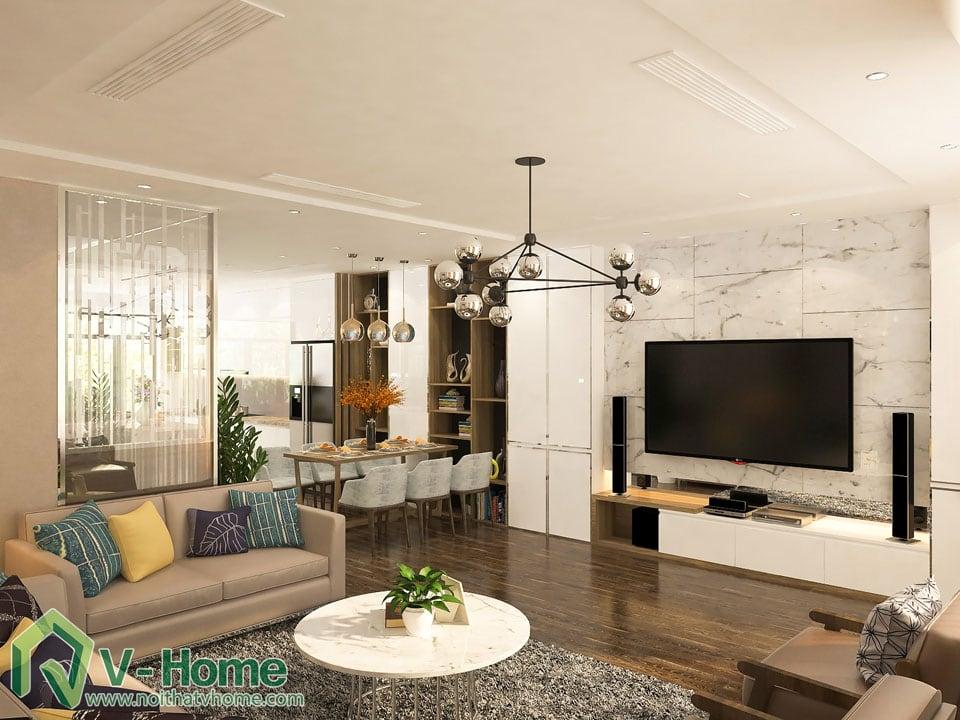 thiet-ke-noi-that-biet-thu-vinhomes-2-4 Thiết kế kiến trúc, nội thất Biệt thự liền kề Vinhomes Gardenia Hàm Nghi - C. Thủy