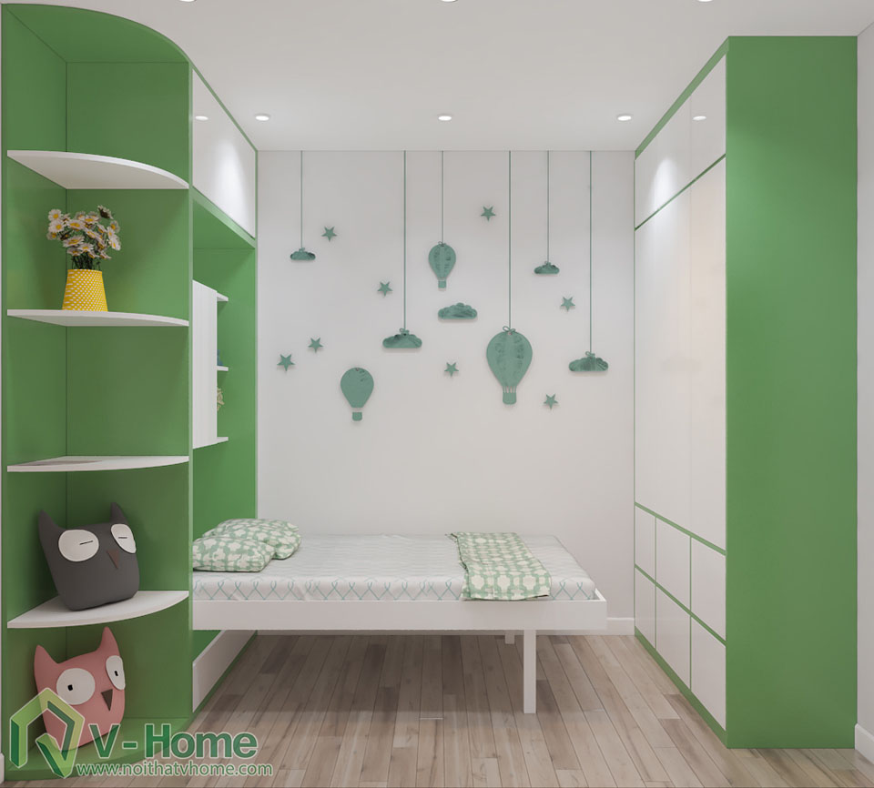 thiet-ke-phong-ngu-tre-em-1 Thiết kế nội thất phòng ngủ thông minh - Royal City